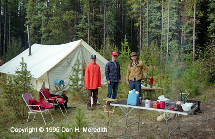 Moose camp, Berland River